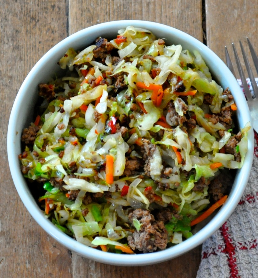 hot egg roll salad